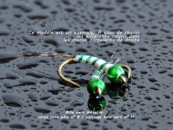 Perdigone tête Vert Métalisé