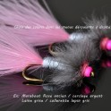 Wooly Bugger tête et col Rose Fluo personnalisable