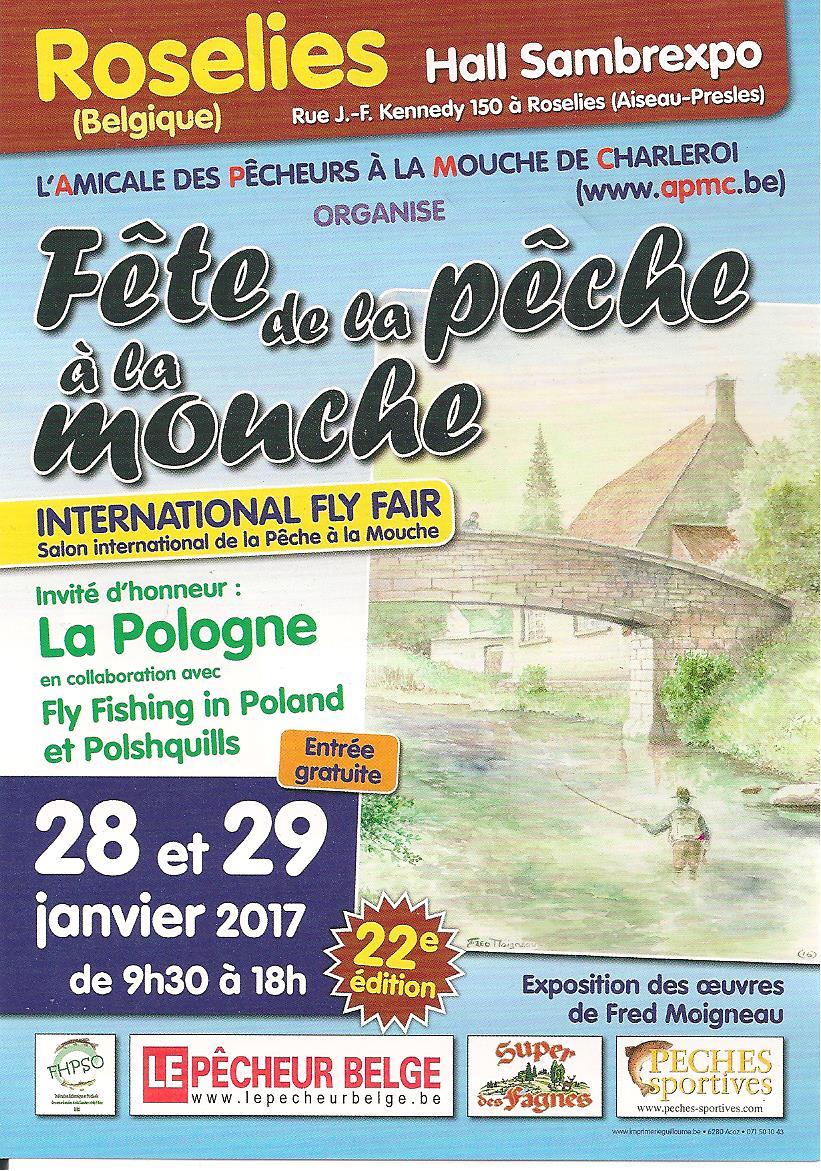 """Mouche peche """"De plumes et d'acier"""" Fête pêche mouche Begique 2017"""