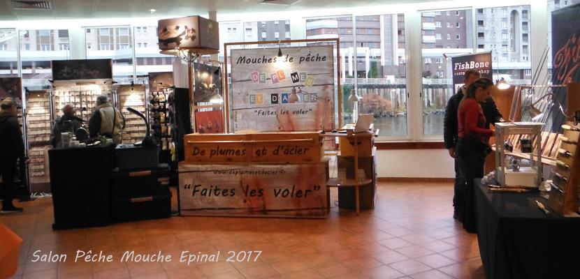 """Mouche peche """"De plumes et d'acier""""Salon Pêche Mouche Epinal 2017"""