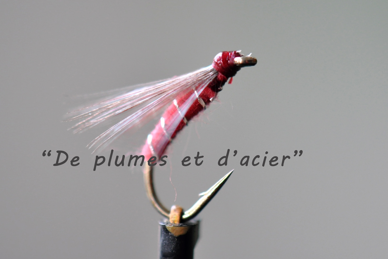 """Mouche pêche """"De plumes d'acier"""" Noyée Limousine"""