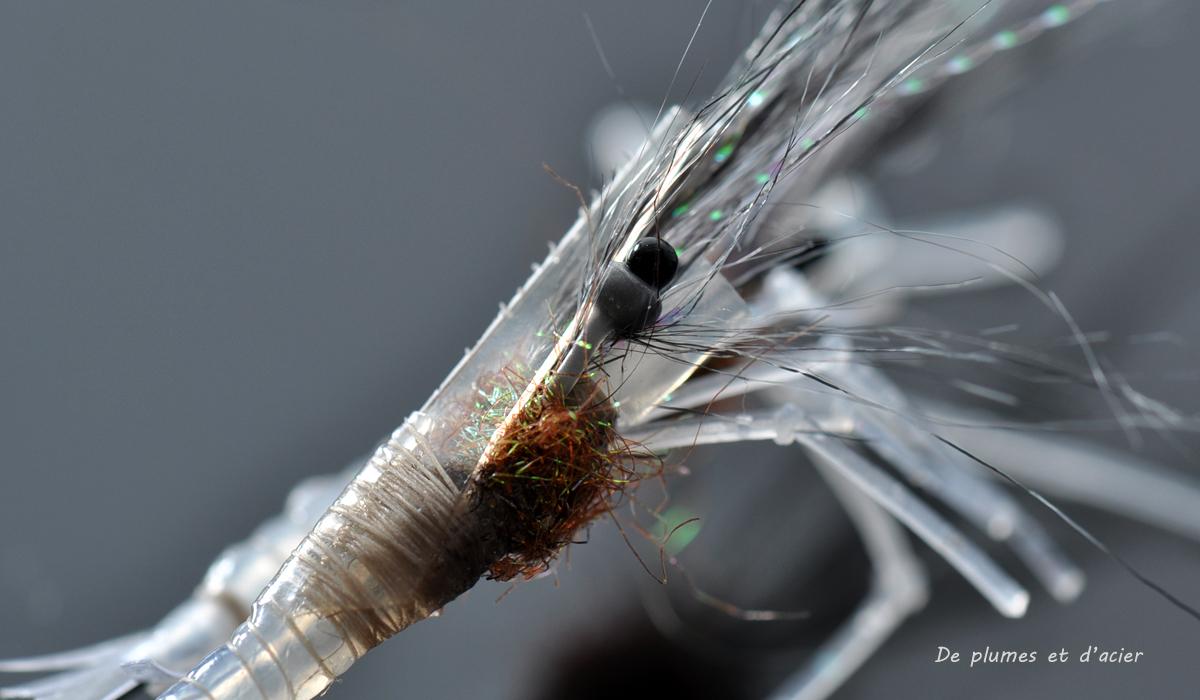 """Mouche peche """"De plumes et d'acier""""Crevette tubefly2"""