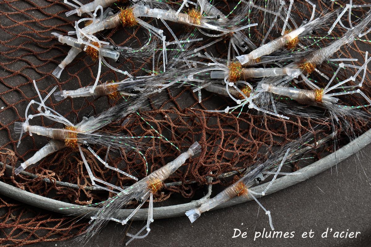 """Mouche peche """"De plumes et d'acier"""" Crevette tubefly"""